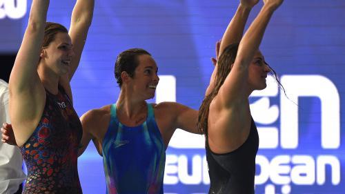 Natation : les Françaises sacrées championnes d'Europe en 4x100 mètres nage libre