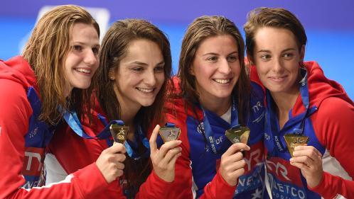 Natation : les Françaises sacrées championnes d'Europe sur 4x100m nage libre