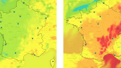 CARTE. Canicule : regardez l'évolution de la pollution à l'ozone en France depuis un mois