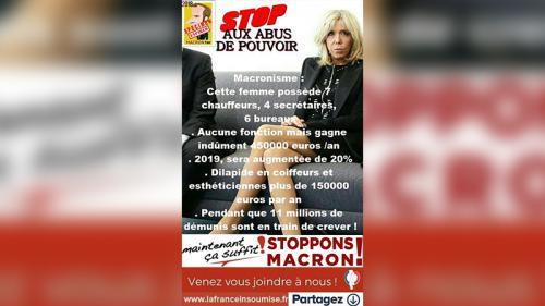 Non, Brigitte Macron ne gagne pas 450 000 euros par an, contrairement à ce que vous avez peut-être lu sur Facebook