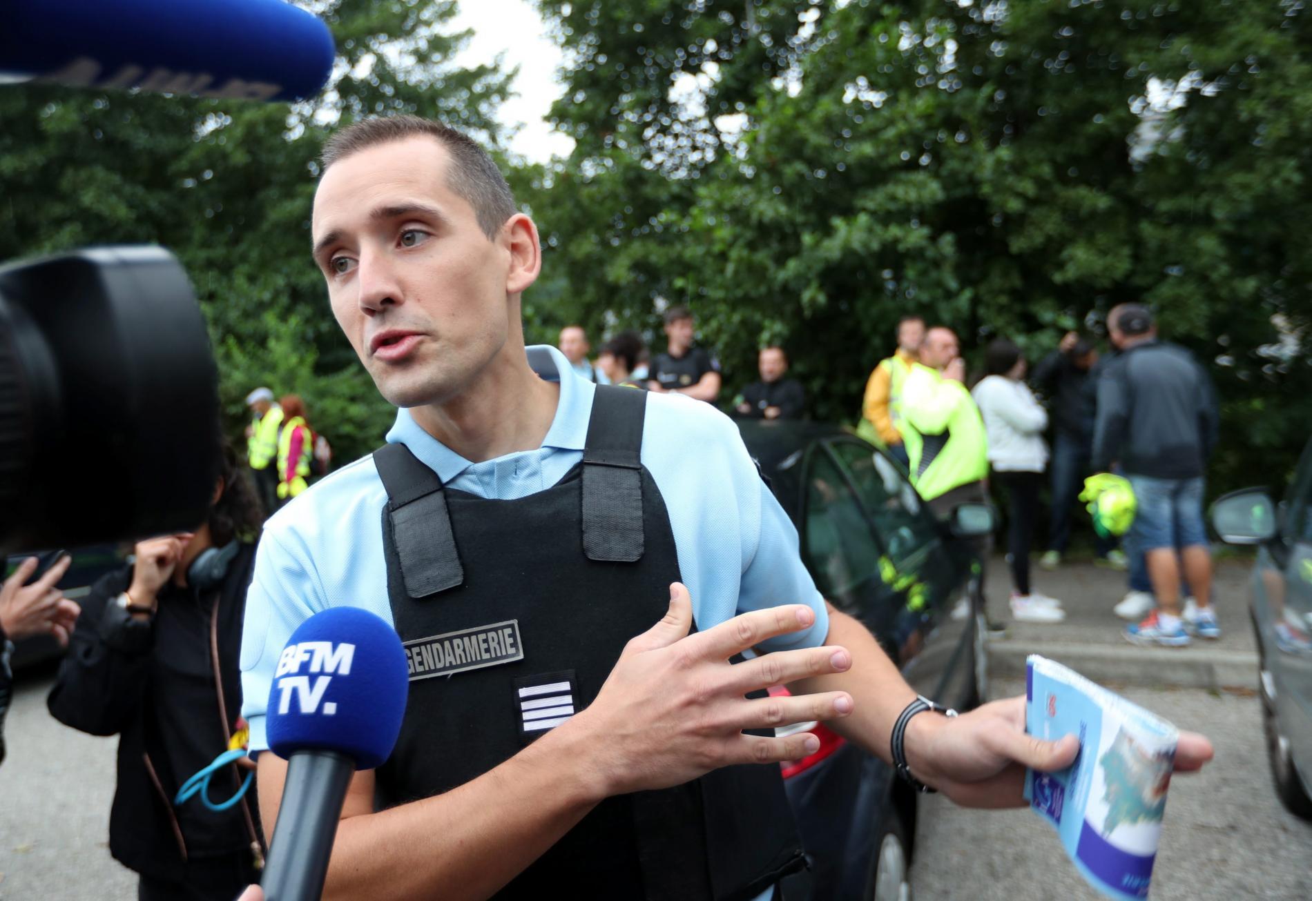 """Jean Pertué, le 2 septembre 2017, lors de la battue \""""citoyenne\"""" organisée à Pont-de-Beauvoisin pour chercher Maëlys."""