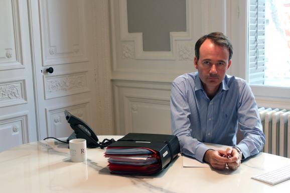 Fabien Rajon dans son cabinet à Lyon (Rhône), le 11 juillet 2018.