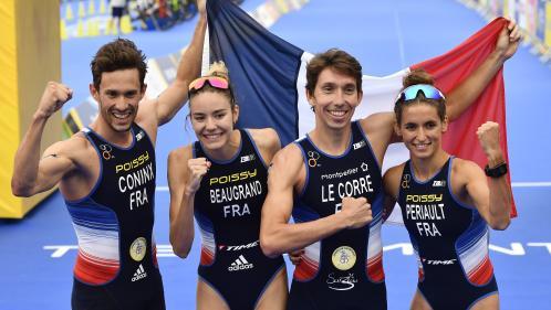 Championnats européens : la France obtient l'or au relais mixte en triathlon