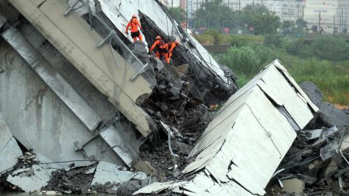 DIRECT. Effondrement d'un viaduc à Gênes : au moins 30 morts, annonce le ministre de l'Intérieur italien