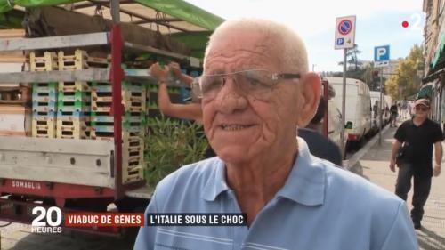 """VIDEO. """"Tous les habitants sont tristes"""" : la ville de Gênes sous le choc après l'effondrement d'un pont"""