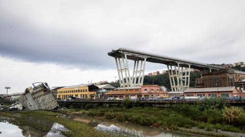A Gênes, une quarantaine de morts après l'effondrement du pont autoroutier
