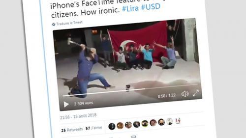 Erdogan appelle à boycotter des produits américains, des Turcs détruisent leurs iPhones