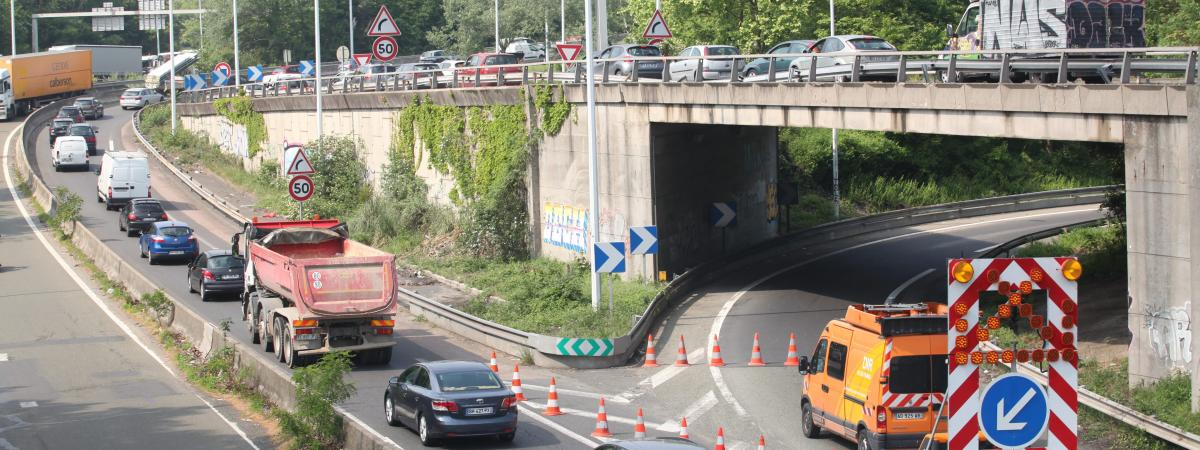 Le 15 mai dernier, l'autoroute A15 avait été fermée à la circulation à la suite de l'affaissement d'une partie du pont du viaduc de Gennevilliers (Val d'Oise).