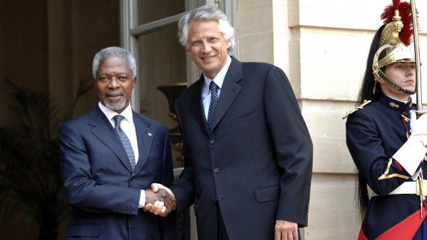 """Kofi Annan était """"certainement"""" le """"meilleur secrétaire général de l'ONU"""", selon Dominique de Villepin"""