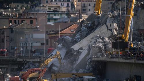 Pont effondré à Gênes : le bilan monte à 43 morts, dont 40 identifiés