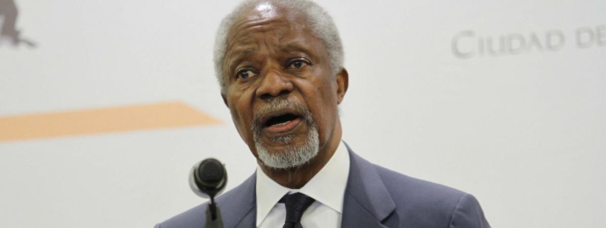 L\'ancien secrétaire général de l\'ONU, Kofi Annan, le 24 mai 2018 à Mexico.