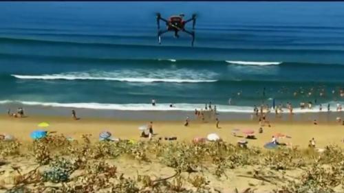 Un drone pour sauver les baigneurs de la noyade