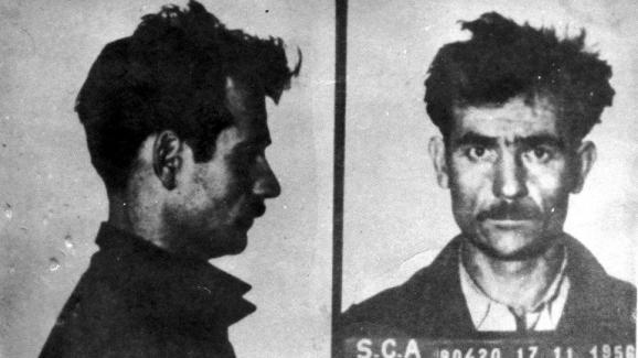 Fernand Iveton après son arrestation en novembre 1956.