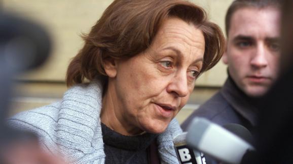 Marylise Lebranchu, alors secrétaire d\'Etat chargée du Commerce, répond aux questions de la presse à Paris le 16 novembre 1999.