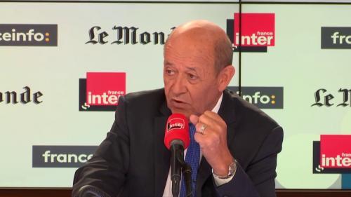 """Syrie : """"Il y a un risque d'une nouvelle utilisation de l'arme chimique"""", estime Jean-Yves le Drian"""