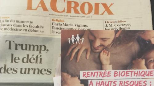 """Une publicité pour La Manif pour tous distribuée avec le journal """"La Croix"""" déclenche la polémique"""