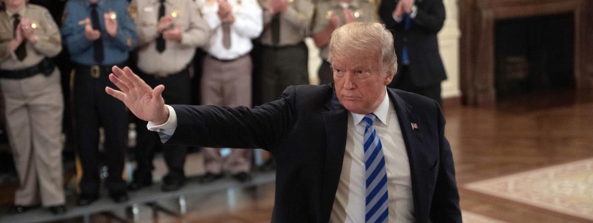 Donald Trump lors d\'une réunion à la Maison Blanche, à Washington (Etats-Unis), le 5 septembre 2018.