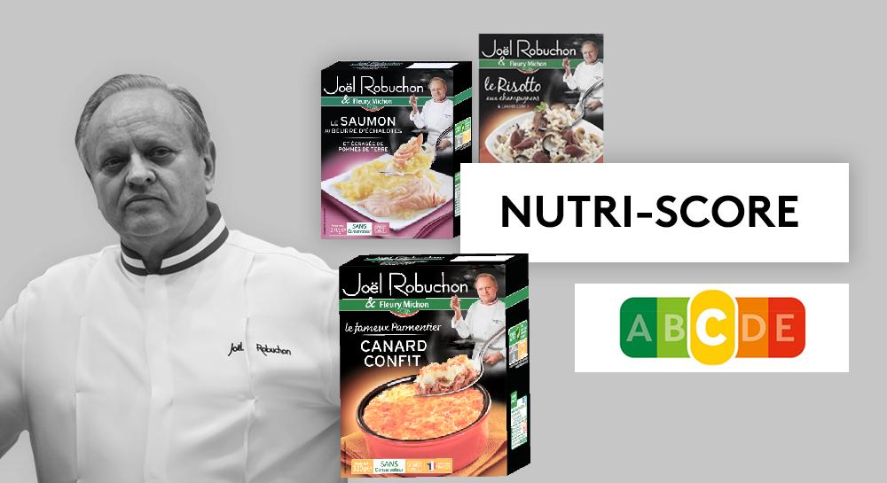 Certains des plats préparés Joël Robuchon vendus par Fleury Michonobtiennent la note – moyenne – de C avec le Nutri-Score.