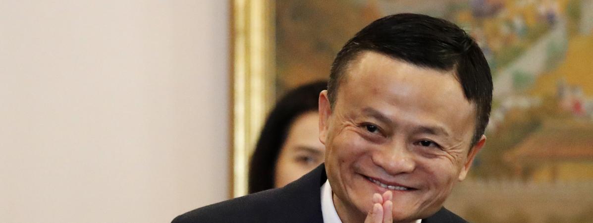 Le fondateur d\'Alibaba, Jack Ma, lors d\'une réunion en Thaïlande, le 18 avril 2018.
