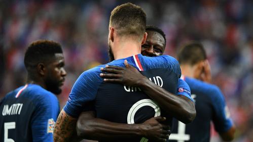 Foot : grâce à un but de Giroud, les Bleus remportent leur première victoire en Ligue des nations face aux Pays-Bas (2-1)