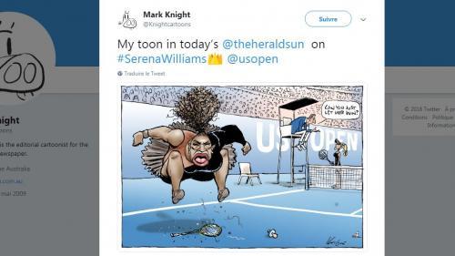 Un dessinateur australien sous le feu des critiques pour une caricature de Serena Williams