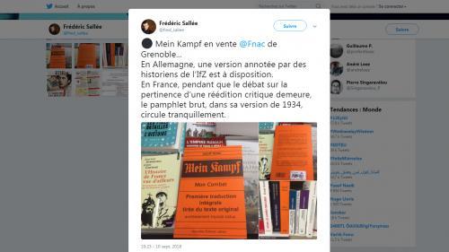 """""""C'est légal, mais est-ce moral ?"""" : un historien s'interroge sur la présence de """"Mein Kampf"""" dans les rayons de la Fnac"""