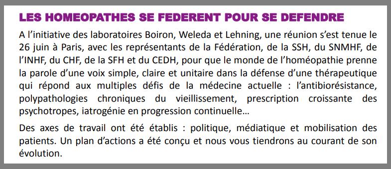 Extrait de la newsletter n°26 de l\'INHF-Paris datée de juillet 2018.