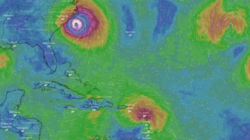 VIDEO. Ouragans : suivez en direct l'évolution des trajectoires de Florence et Isaac