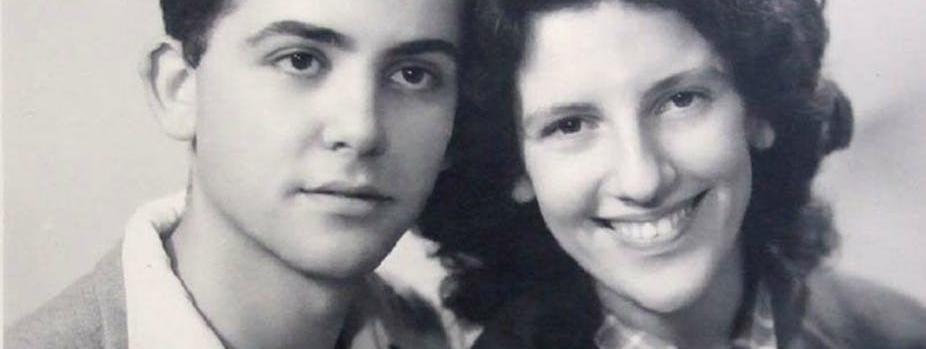 Une photo non datée de Maurice Audin et de son épouse Josette.