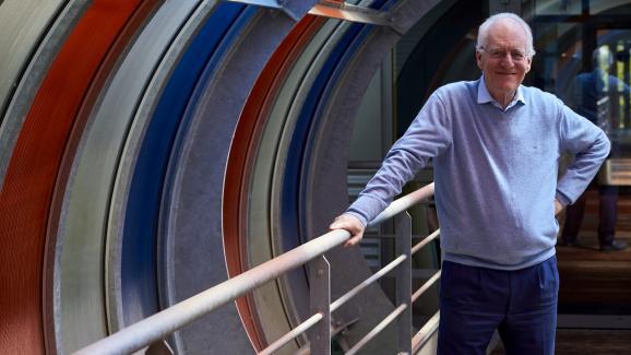 Le directeur général de Boiron, Christian Boiron, au siège de son entreprise à Messimy (Rhône), le 2 mai 2016.
