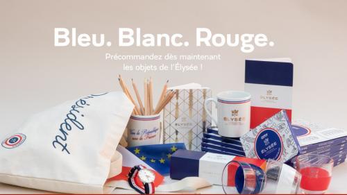 """Montres à 169 euros, tee-shirt """"croquignolesque"""" à 55 euros, mugs à 24,90 euros... L'Elysée lance sa marque pour rénover ses bâtiments"""