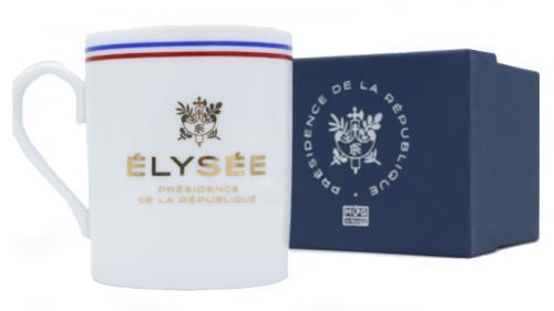 """Goodies de l'Élysée : des mugs faussement estampillés """"Porcelaine de Limoges"""""""