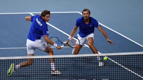 Coupe Davis : la France file en finale, après la victoire de Benneteau et Mahut en double contre l'Espagne