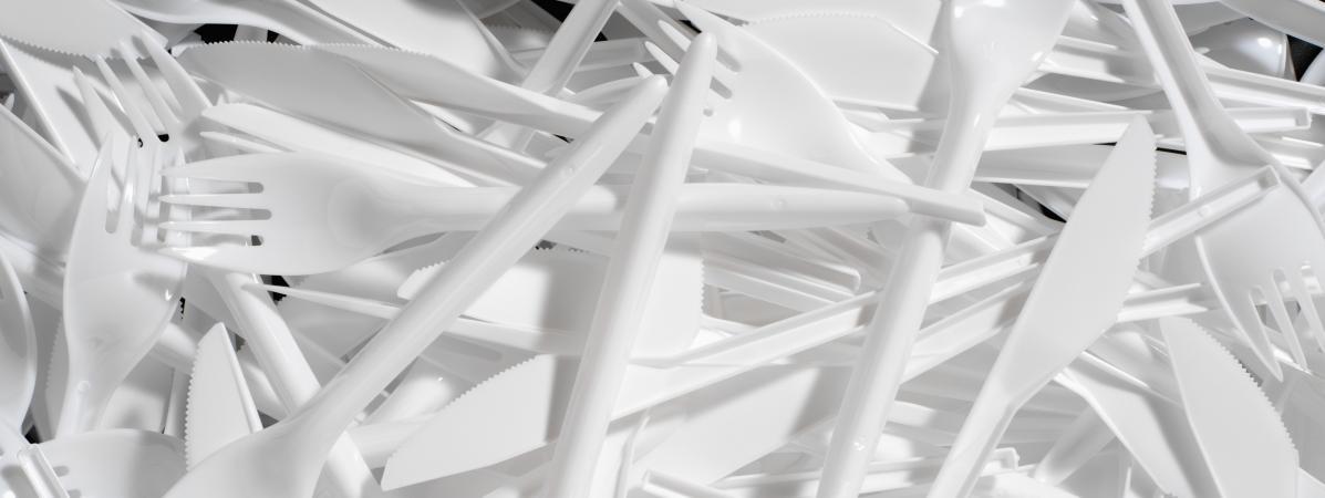 Les députés votent l'interdiction des couverts en plastique