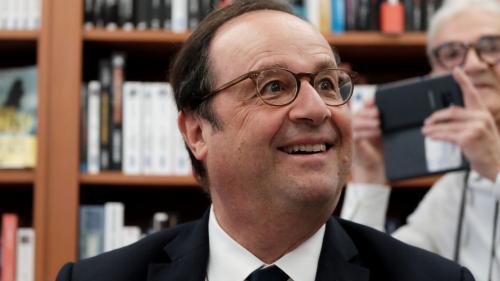 """VIDEO. """"Je suis très attaché à Limoges"""" : le trait d'esprit de Hollande sur la boutique de produits dérivés de l'Elysée"""