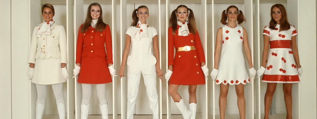 Six modèles signés Courrèges, 1968