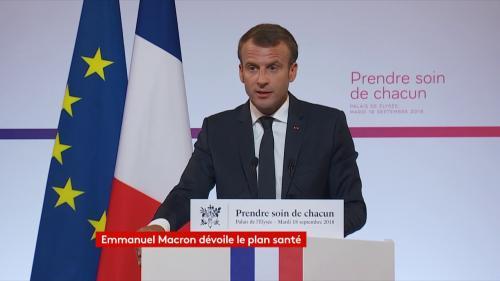 """DIRECT. """"Ce système de soins n'est plus adapté"""" : regardez le discours d'Emmanuel Macron qui dévoile son plan santé"""