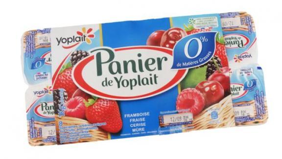 Les yaourts Panier de Yoplait 0%.