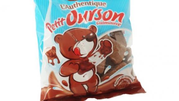 Les bonbons L\'Authentique petit ourson guimauve de Cémoi.
