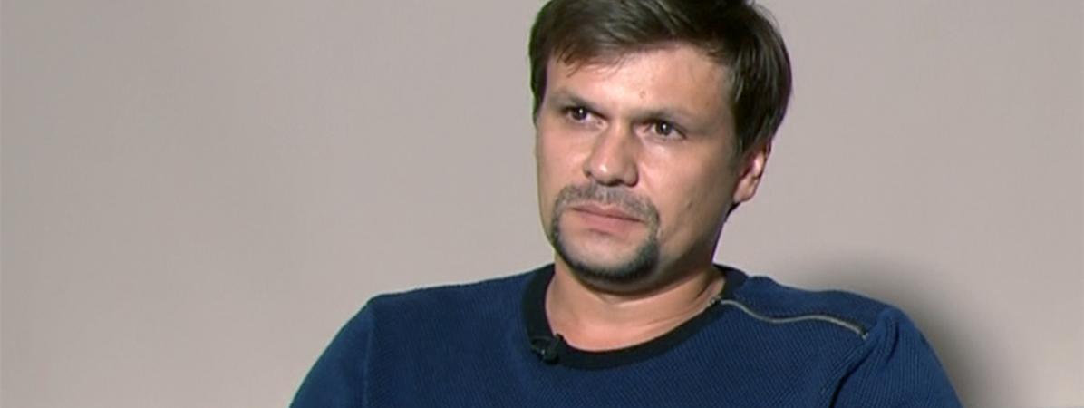 Ruslan Boshirov, lors de son interview à la télévision russe, le 13 septembre 2018.