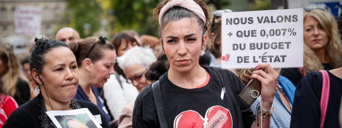 Rassemblement contre les violences faites aux femmes, le 6 octobre 2018 à Paris.