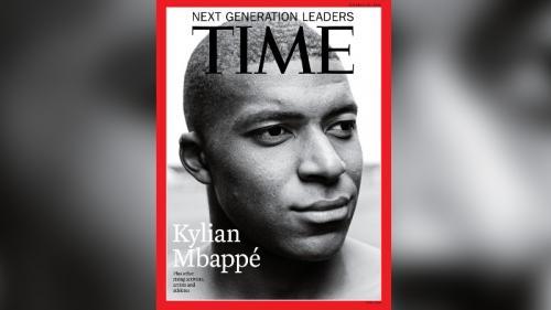 """Kylian Mbappé en une de l'édition internationale du magazine américain """"Time"""""""
