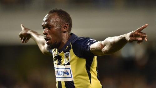 VIDEO. Usain Bolt marque son premier but de footballeur professionnel