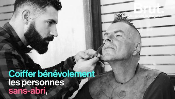 VIDEO. Kévin Ortega, un jeune coiffeur qui prend soin des SDF à sa manière