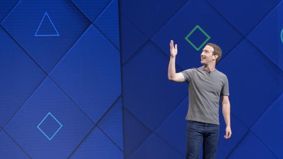 Mark Zuckerberg, fondateur de Facebook, lors d\'une conférence à San José (Californie, Etats-Unis), le 18 avril 2017.