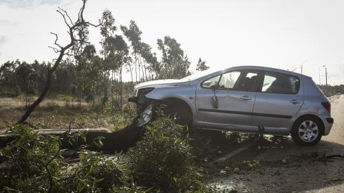 Portugal : plus de 300000foyers privés d'électricité après le passage de la tempête Leslie