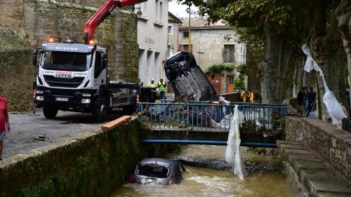 DIRECT. Intempéries dans l'Aude : le bilan, revu à la baisse, passe à 10 morts