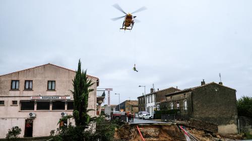Inondations : deux personnes sont mortes à Villegailhenc, dans l'Aude