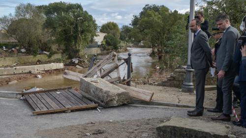 """DIRECT. Intempéries dans l'Aude : Edouard Philippe promet une """"procédure de catastrophe naturelle accélérée"""""""