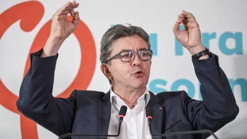 """VIDEO. Jean-Luc Mélenchon demande """"l'annulation de la perquisition"""" du siège de La France insoumise"""